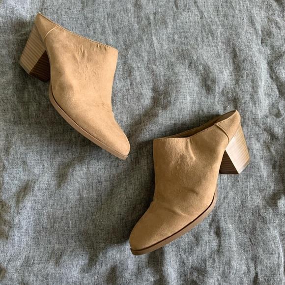 GAP Shoes - Gap beige mule booties size 8